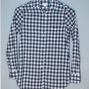 Blue/white button-up